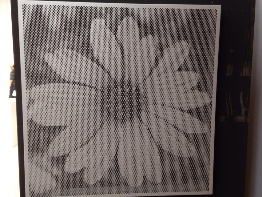 Geperforeerde plaat bloemfiguur